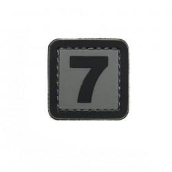 Patch PVC d'identification avec velcro chiffre 7 Gris/noir