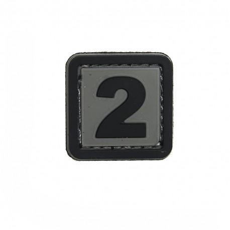 Patch PVC d'identification avec velcro lettre F Gris/noir