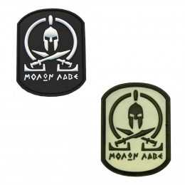 Patch PVC avec velcro Molon Labe Spartan en divers couleurs