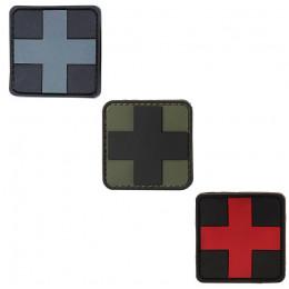 Patch PVC avec velcro CROIX MEDIC en divers couleurs