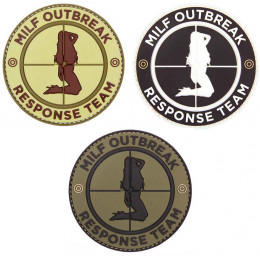 Patch PVC avec velcro Milf Outbreak en divers couleurs