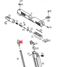 Poussoir de bille du chargeur gaz pour CZ P-09