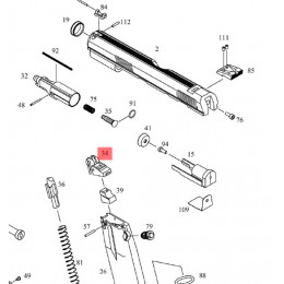 Lèvre du chargeur gaz pour CZ SP-01 Shadow