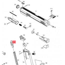 Poussoir de bille du chargeur gaz pour CZ SP-01 Shadow