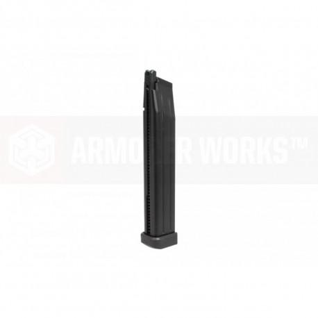 Chargeur hi-cap noir AW pour réplique HX ou Hi-capa WE
