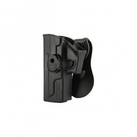 Holster polymer paddle gaucher noir pour Sig Sauer SP2022