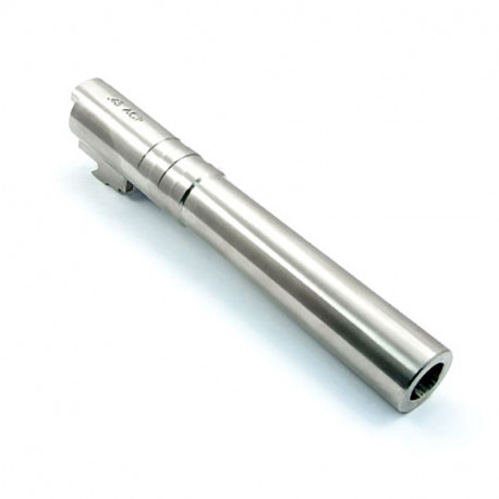 Stainless Steel .45ACP Outer Barrel pour TM 5.1 Hi-capa argent