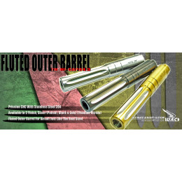 Stainless Steel .45ACP Fluted Outer Barrel pour TM 4.3 Hi-capa