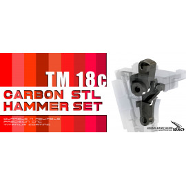 Steel hammer sear set for TM Glock G18C