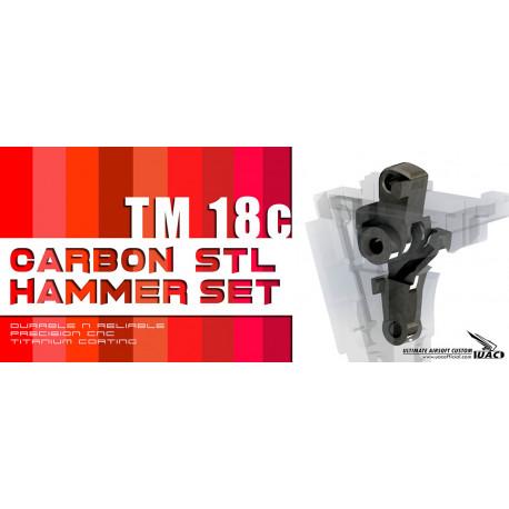 Steel hammer sear set for TM Glock G18C