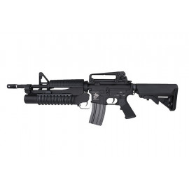Assault rifle M4A1 with M203 AEG black ECEC System