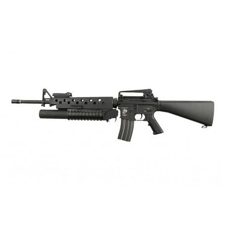 Réplique d'assaut M16A3 avec M203 AEG Noir ECEC Système