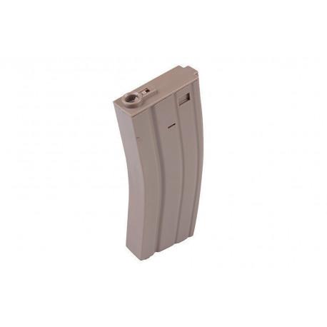 Chargeur métal M4/M16 Midcap 160 billes Tan
