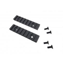 Set of 2 rails black for Coyote G2 AEG K-SMG