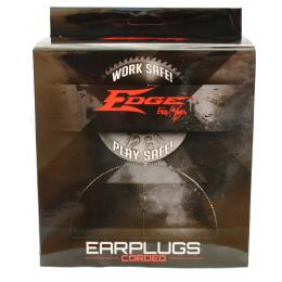 Boite de 100 bouchons d'oreilles avec corde réutilisable Edge
