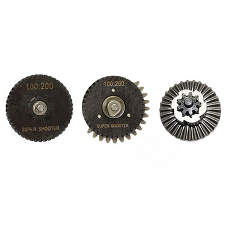 Super shooter gears 100:200 CNC Low Noise High Torque Set