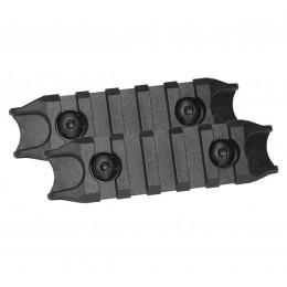 Set de 2 rails ABS M-LOK 8cm Noir