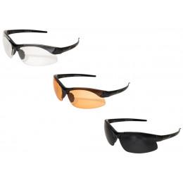 Sharp Edge Thin temple avec verres G15, transparent et Tiger eye's