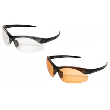 Sharp Edge Thin temple avec verres transparent et Tiger eye's