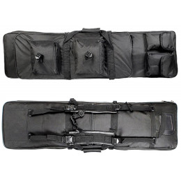 Tactical Gun bag 85cm for 2 airsoft gun + accessories Black