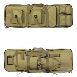 Tactical Gun bag 85cm for 2 airsoft gun + accessories Tan