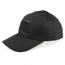 Baseball cap with velcro in Black