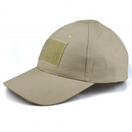 Baseball cap with velcro in Tan