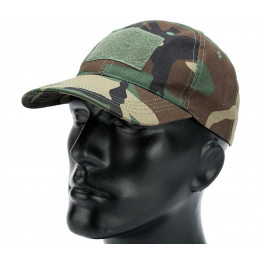 Baseball cap with velcro in Woodland
