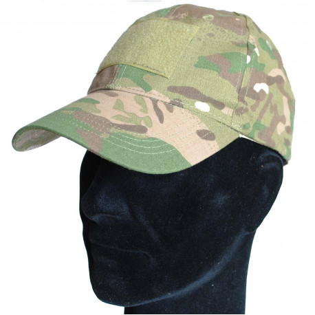 Baseball cap with velcro in CP Multicam