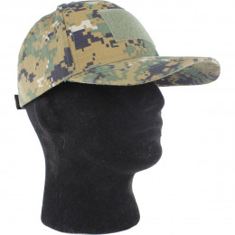 Baseball cap with velcro in Digital Woodland