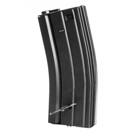 Chargeur métal M4/M16 Hicap 300 billes Noir avec clé papillon