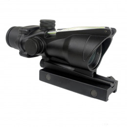 Red dot ACOG type with green optical fiber in black color