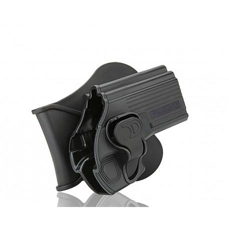 Amomax Holster Noir pour CZ 75D compact et Taurus 24/7 droitier GEN2