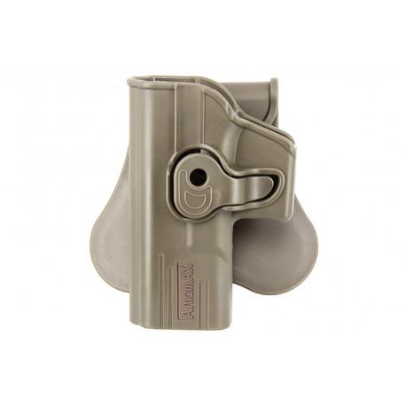 Amomax Holster Dark Earth for Glock 19 left hand GEN 2