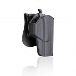 Cytac Holster Noir T-thumbsmart pour Glock 17 (Gen1,2,3,4,5) , 22, 31 (Gen1,2,3,4)