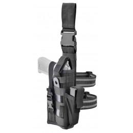 DEFCON 5 AMBIDEXTROUS LEG PISTOL HOLSTER BLACK