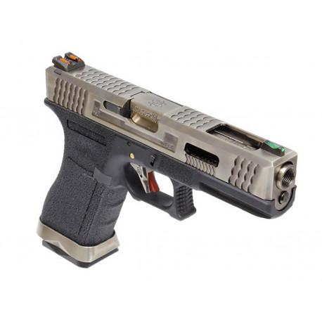 WE Glock 17 T7 Silver/Black