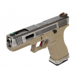 WE Glock 17 T8 Argent/Tan