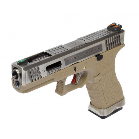 WE Glock 17 T8 Silver/Tan
