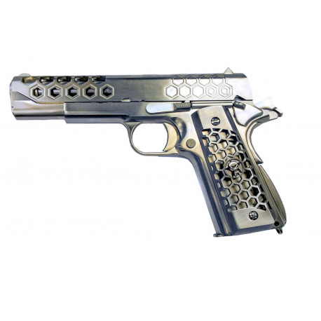 WE 1911 GEN 2 Hex cut GBB full metal Stainless