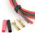 Cable électrique basse résistance 2x60cm avec connecteurs moteur