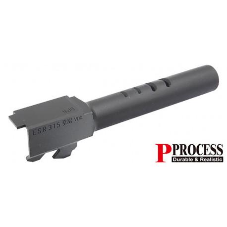 Guarder Canon externe acier CNC noir pour G18C Marui