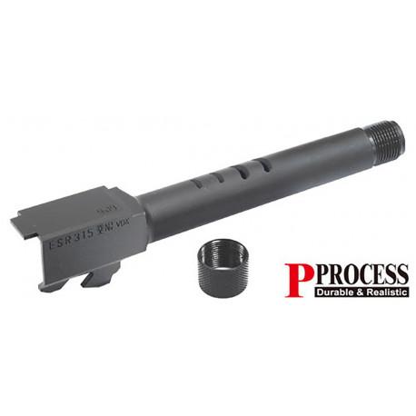 Guarder Canon externe fileté en acier CNC noir pour G18C Marui