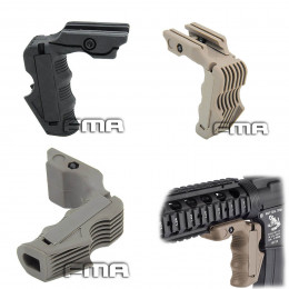 Vertical Magwell and grip for rail picatinny
