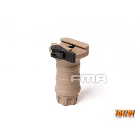 Poignee verticale courte QD pour rail picatinny tan