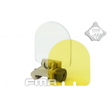 Tactical tilting Lens protector tan