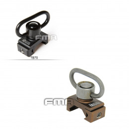 Aluminum QD Sling swivel for picatinny rail