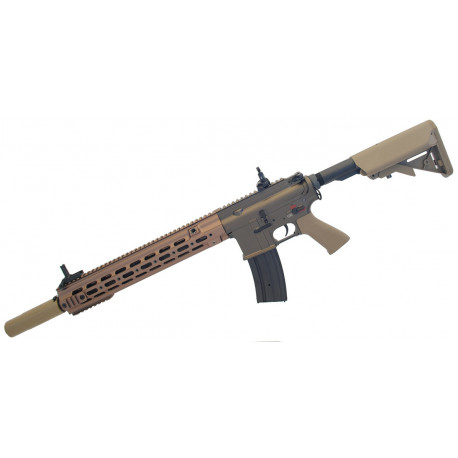 "Assault rifle type 416 Delta 14,5"" AEG Brown ECEC System + silencer"