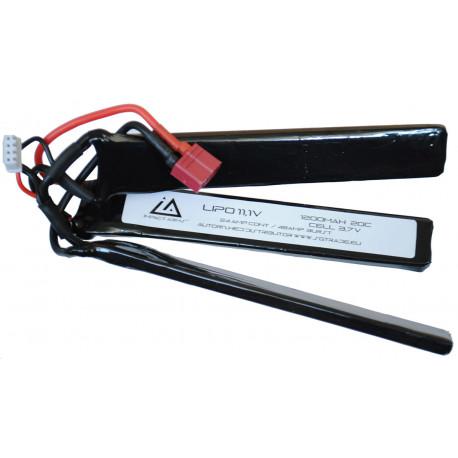 Batterie Lipo 11,1V 1200Mah 20C type triplet avec T Dean