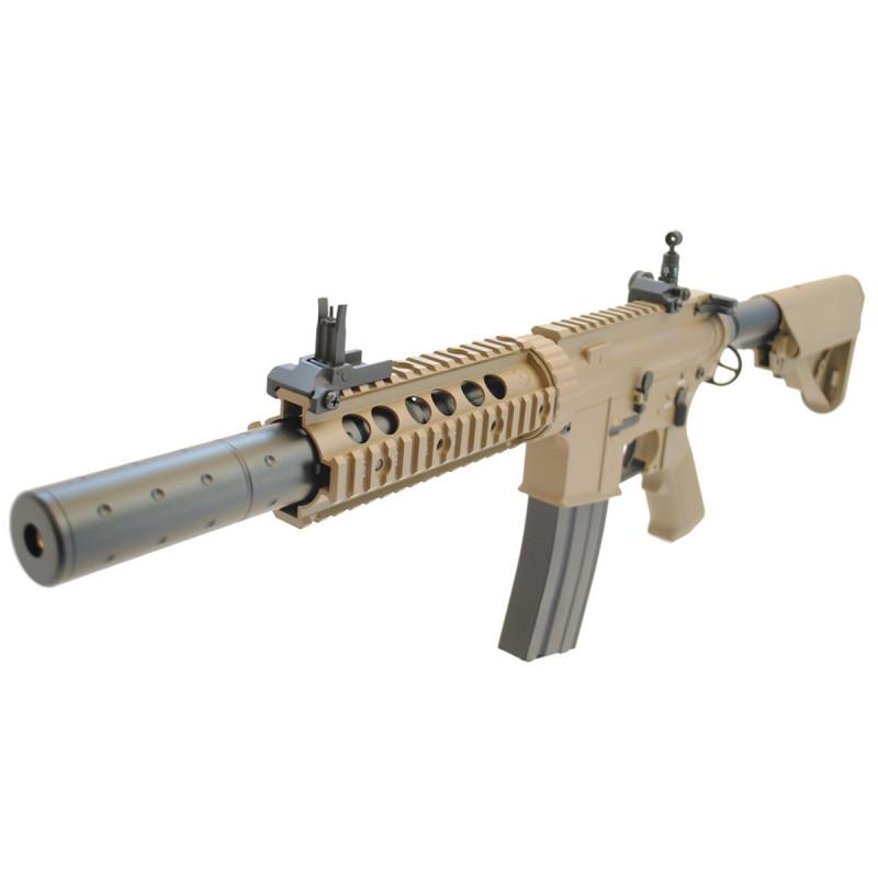 """Réplique D'assaut M4 Special Operation 7"""" AEG Tan ECEC"""